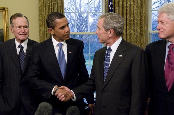 Bush+Hosts+Obama+Former+Presidents+White+House+AIYYLtxH7HCl
