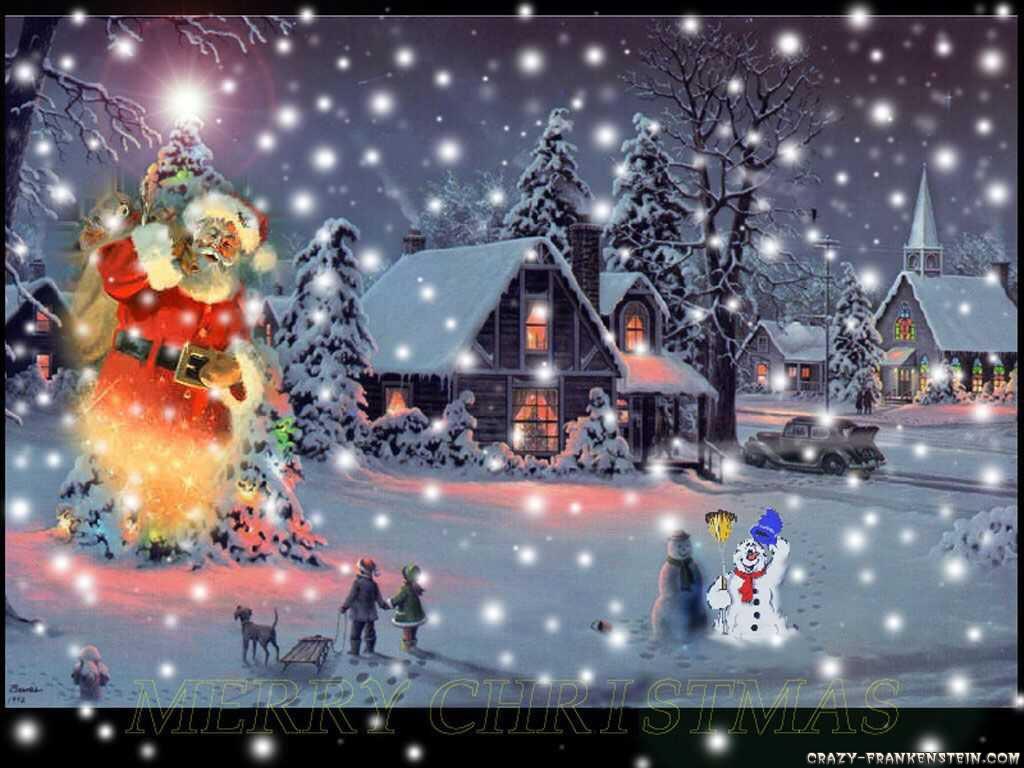snow-man-christmas-scene
