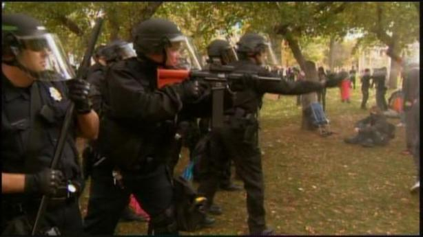 riot-police-using-rubber-bullets-and-mace-at-Occupy-Denver