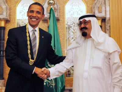 Obama With abdullah-bin-abdul-aziz-al-saud