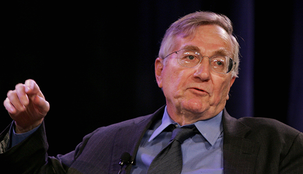 """Investigative reporter Seymour Hersh gestures during a panel discussion on """"The Challenges of Reporting About Iraq"""" at the Associated Press Managing Editors annual conference in San Jose, Calif., Friday, Oct. 28, 2005. Deteriorating security in Iraq has made covering the war and reconstruction efforts exceedingly difficult, and this isn't helping efforts to give readers the coverage they need to understand what's really going on, a panel of journalists said Friday. (AP Photo/Paul Sakuma)"""