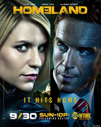 Claire Danes as Carrie Mathison and Damian Lewis as Nicholas