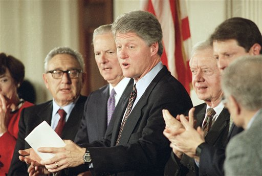 Jimmy Carter and Bill Clinton