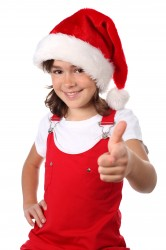 girl-santa-hat-pointing-thumbs-up-happy-christmas-red-166x250