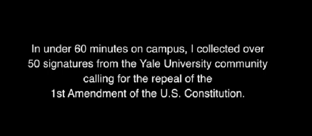 YALE-FAIL-1ST-AMENDMENT