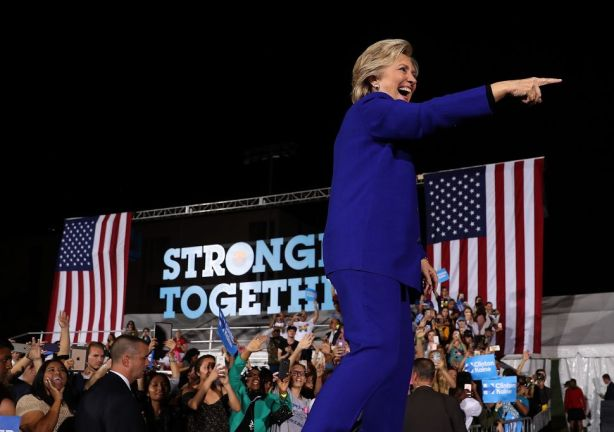 Democratic Presidential Nominee Hillary Clinton Campaigns In Nevada And Arizona