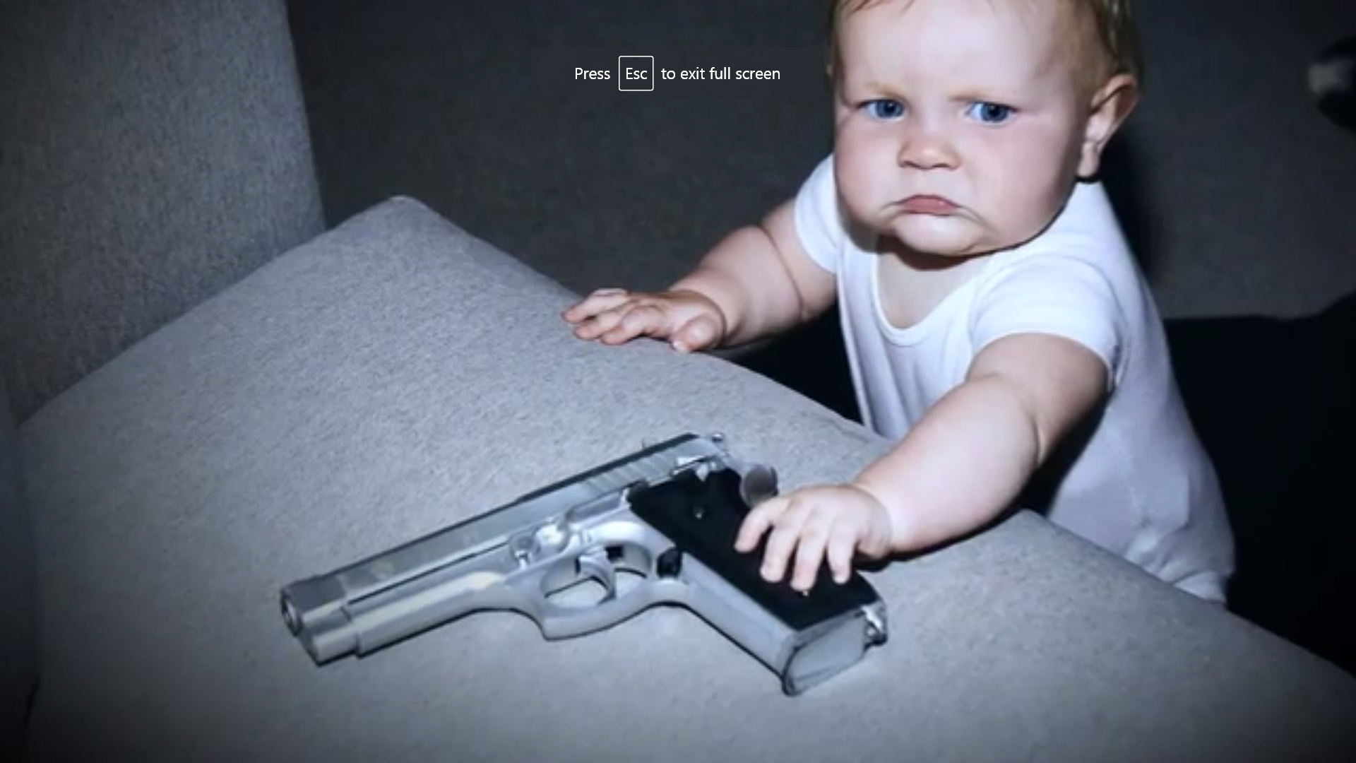 baby grabbing gun copy