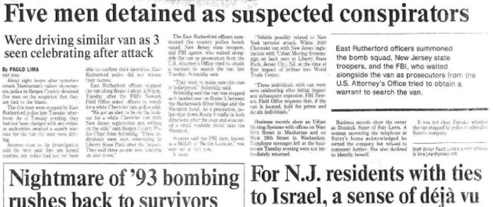 Five Mossad Agents Arrested on 9/11