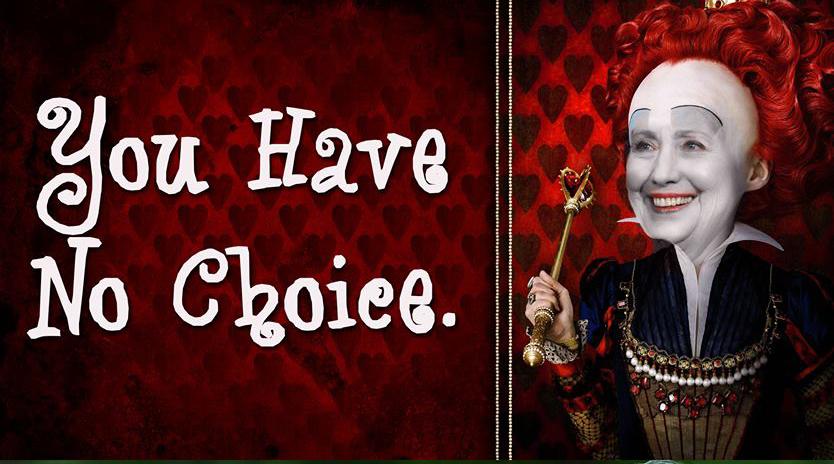 queen-hillary-no-choice-clinton