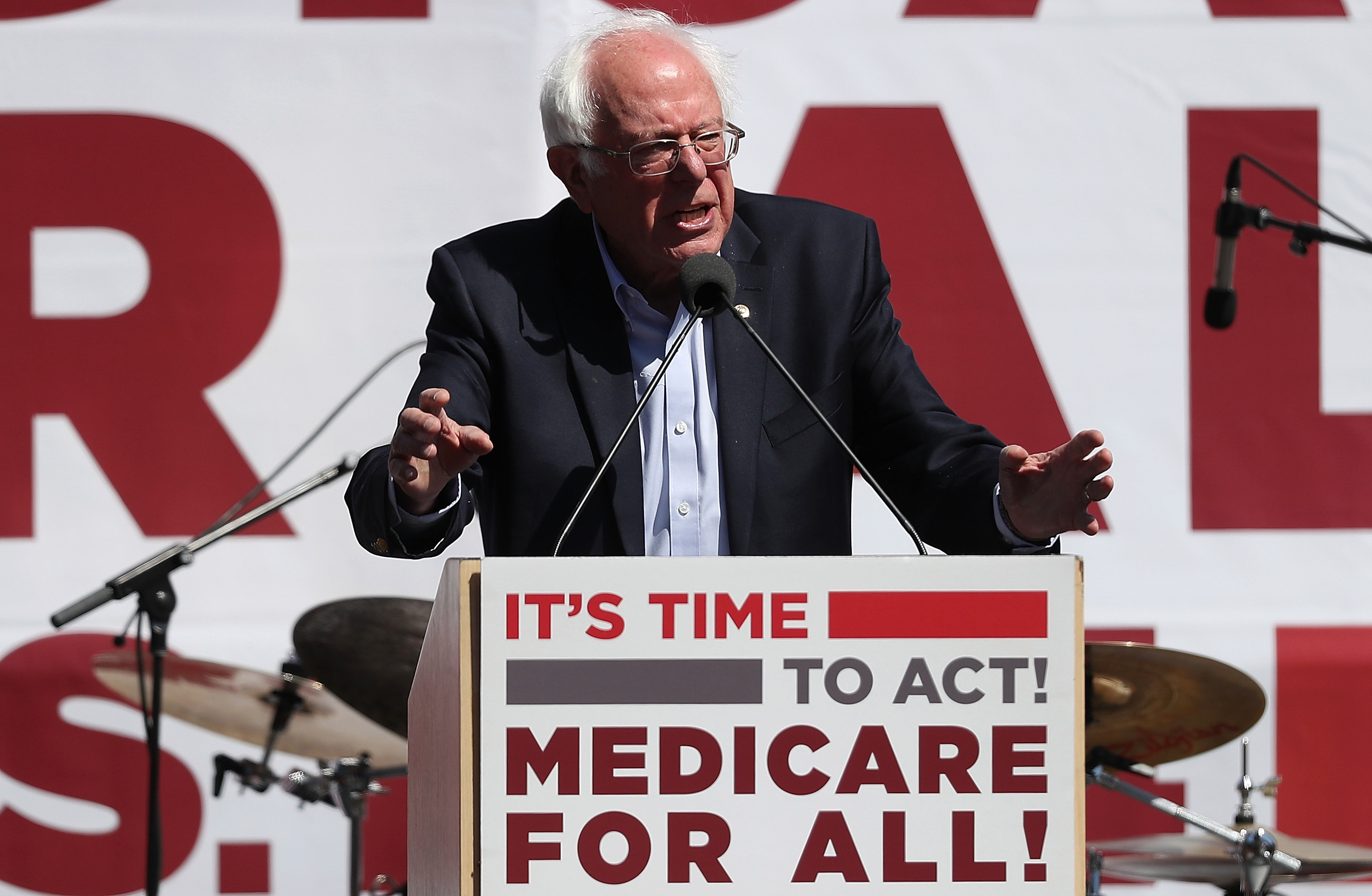 Bernie Sanders Discusses Medicare For All Bill In San Francisco