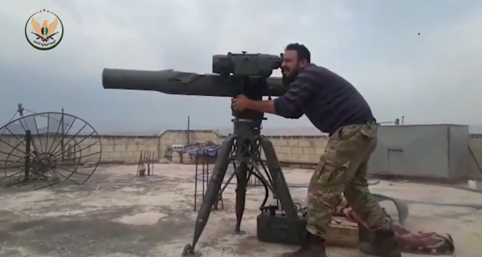 Turkish-backed-rebels-TOW-anti-tank-missiles-Syria