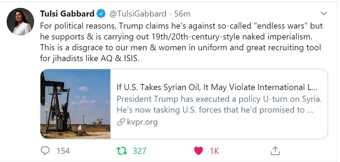 Tulsi-Trump-stealing-oil